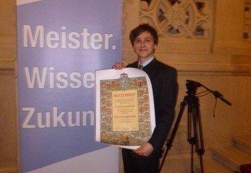 Meisterbriefverleihung Florian Lammer
